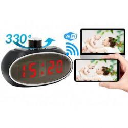 Slapta kamera laikrodyje žadintuve Wifi  HD kokybė