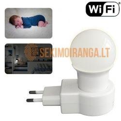 Wi-fi kamera užmaskuota LED naktiniame šviestuve