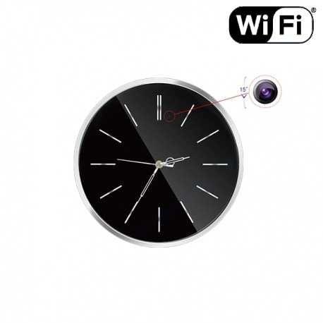 Klasikinis sieninis laikrodis su slapta kamera