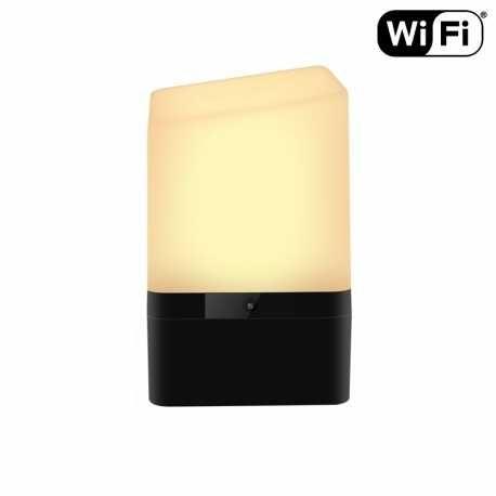Naktinis mini šviestuvas su slapta WI fi kamera ir pulteliu